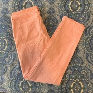 Anthropologie Pilco Pink Crop Jeans